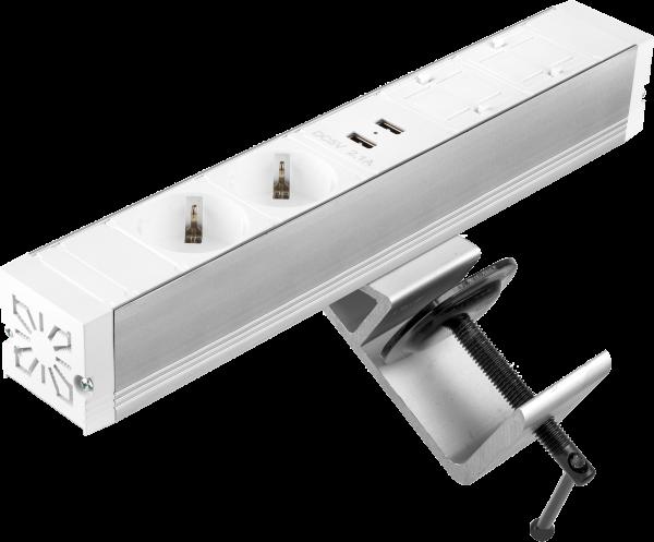 Filex - Power-Desk-up® (2x 230V + 2x USB Charger + 2x Keystone, GST18 - 20cm)