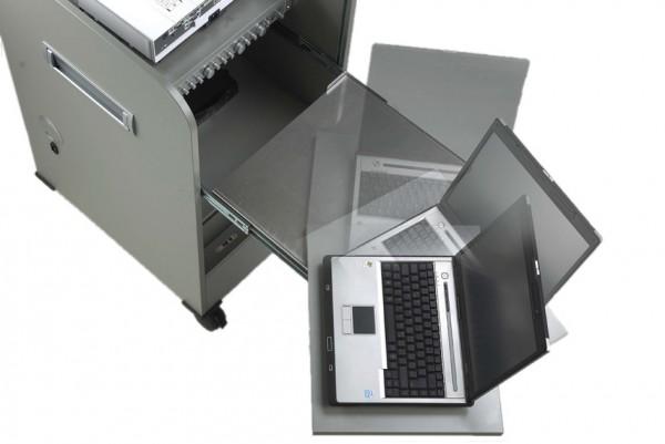 MediaSprint L Laptop- / Tastaturauszug mit Drehtablar speziell für das Rednerpult modifiziert