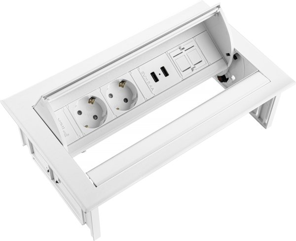 Filex - Power-Desk-In (2x 230V + 2x USB Charger + 1x Keystone)